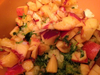 Peach and Avocado Salsa