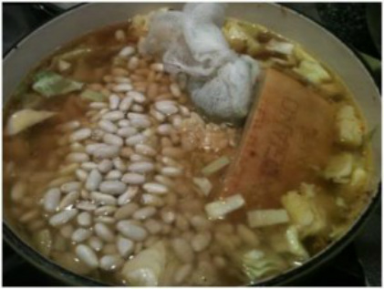 Baked White Bean with Cabbage Soup/Stew